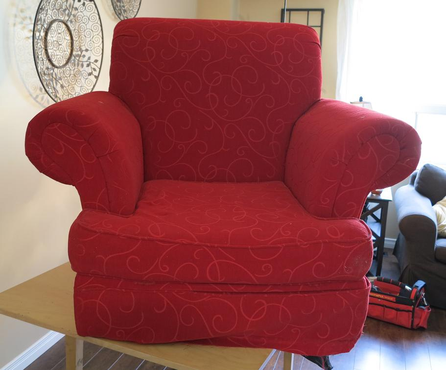 my thinking chair & the big red chair - the other project bug